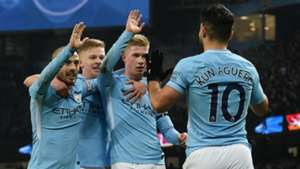 Sergio Aguero Kevin De Bruyne David Silva Manchester City