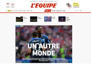 """O site do L'Équipe comemorou o título com a seguinte manchete: """"Um outro mundo"""""""