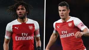 Mohamed Elneny Granit Xhaka Arsenal