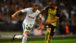 Harry Kane, Toprak, Tottenham - Dortmund, Champions League, 09132017