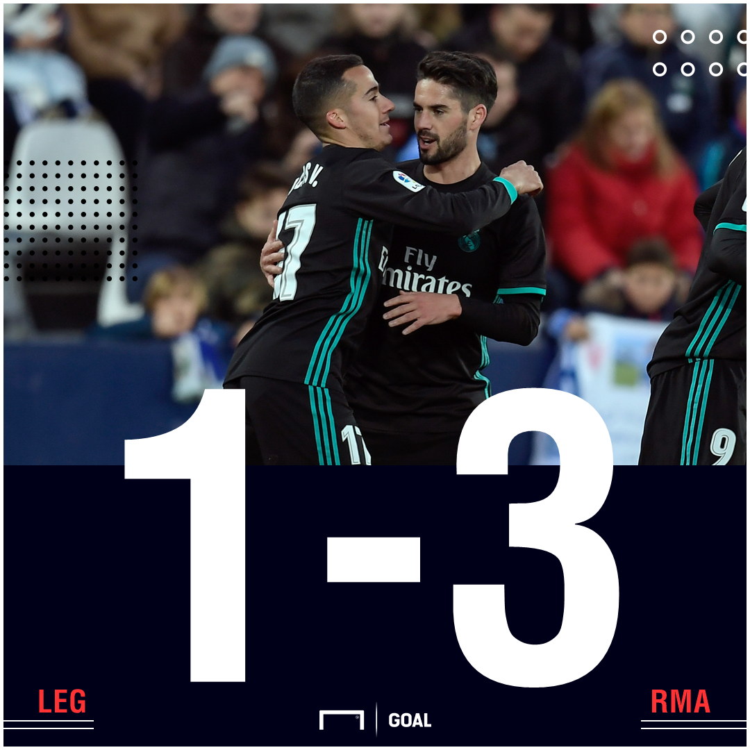 Leganes Real Madrid score