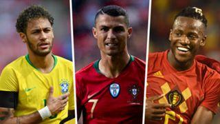 Neymar, Cristiano Ronaldo, Michy Batshuayi