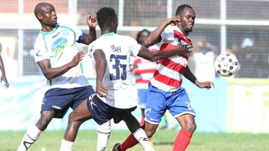 AFC Leopards midfielder Whyvonne Isuza scores.