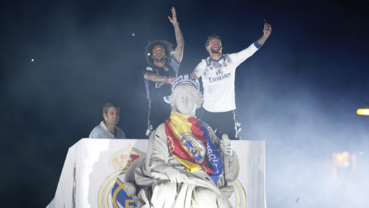 Marcelo Sergio Ramos Real Madrid Cibeles