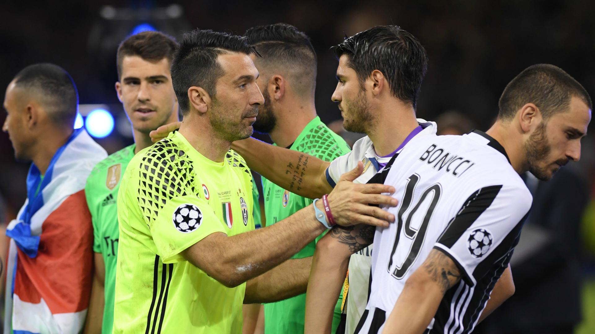 Buffon, Morata, Bonucci - Juventus-Real Madrid