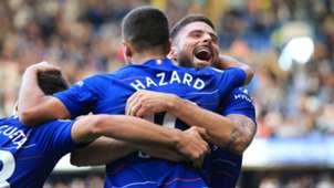FC Chelsea Eden Hazard Olivier Giroud 15092018