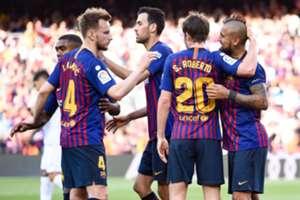 Rakitic Arturo Vidal Barcelona Getafe LaLiga