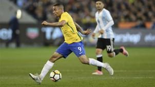 Gabriel Jesus Brasil x Argentina amistoso 09 06 17