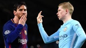 Lionel Messi Kevin De Bruyne