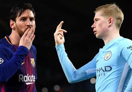 De Bruyne tired of Messi & Ronaldo comparisons