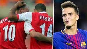 Dennis Bergkamp Thierry Henry Arsenal Denis Suarez Barcelona