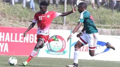 Dennis Shikhayi of Harambee Stars v Burundi.