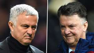 Jose Mourinho Louis van Gaal Man Utd