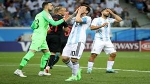 croatia argentina - danijel subasic lionel messi sergio aguero - world cup - 21062018