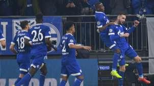 Schalke 04 celebrating Schalke 04 Manchester City Champions League