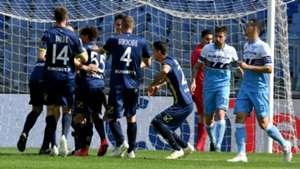 Chievo celebrating Lazio