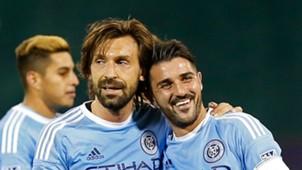 Andrea Pirlo David Villa MLS NYCFC 05082016
