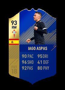 FIFA 18 La Liga Team of the Season Iago Aspas