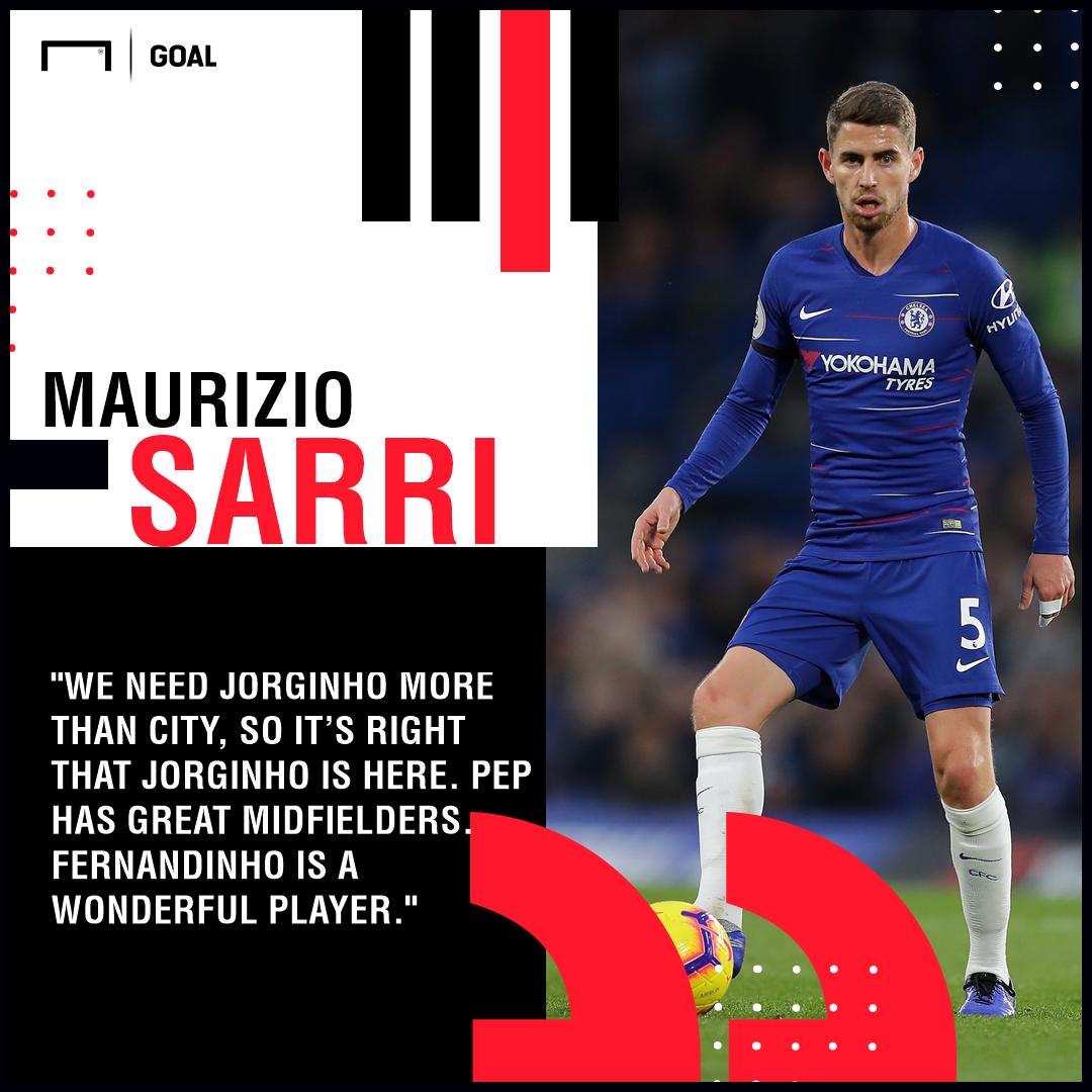 Jorginho Sarri Chelsea PS