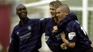 Andy Cole Roy Keane David Beckham Manchester United