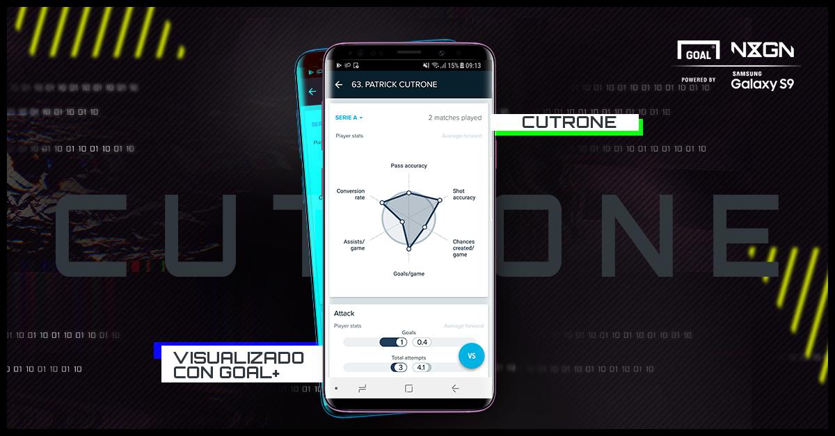 Cutrone Samsung Goal+ Spanish