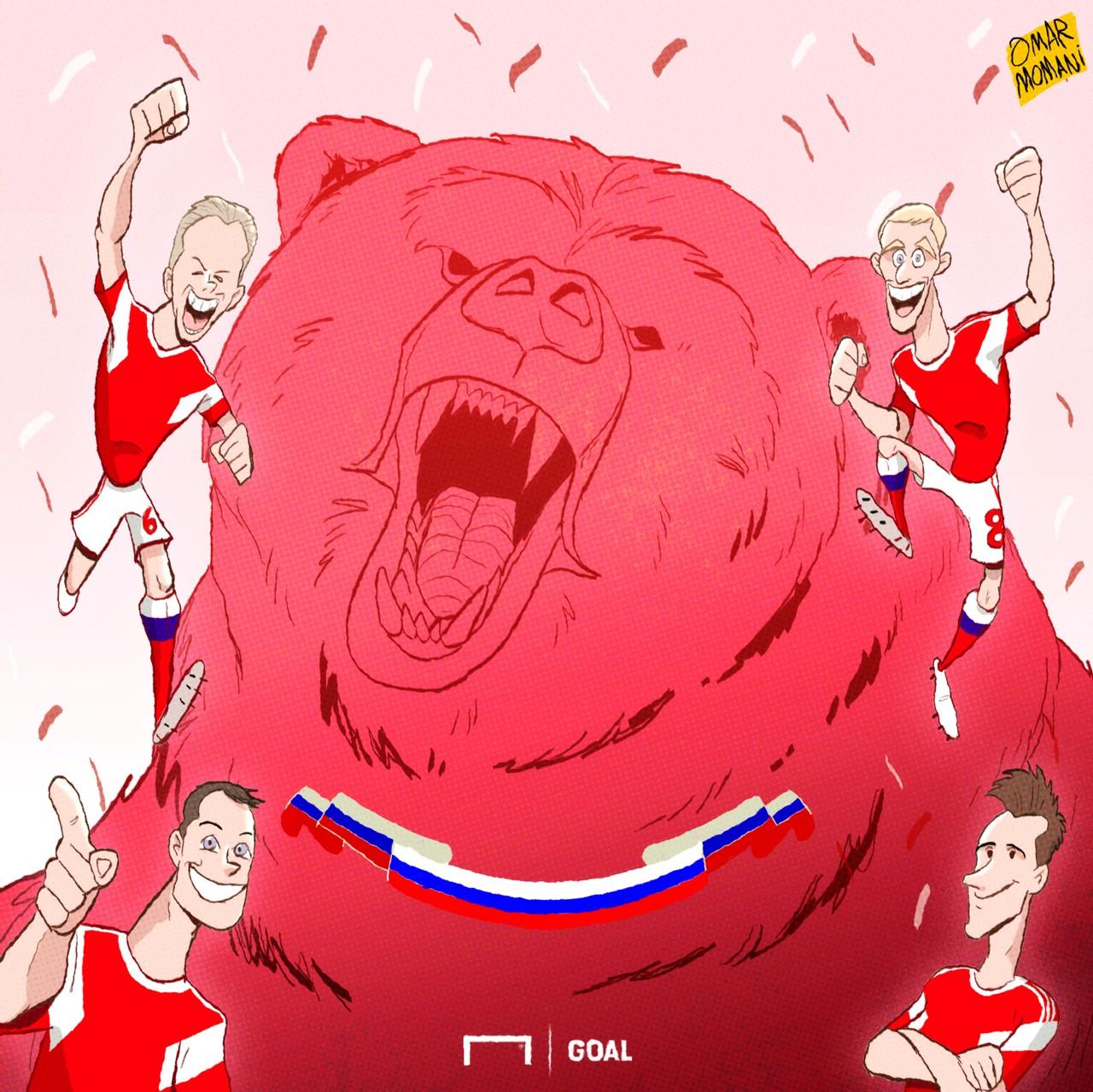 Russia Saudi Arabia World Cup cartoon