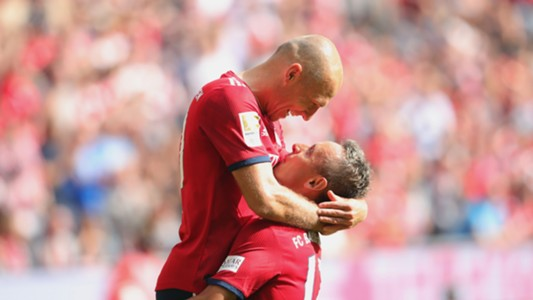 Arjen Robben Rafinha Bayern Munich