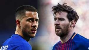 Eden Hazard, Lionel Messi split
