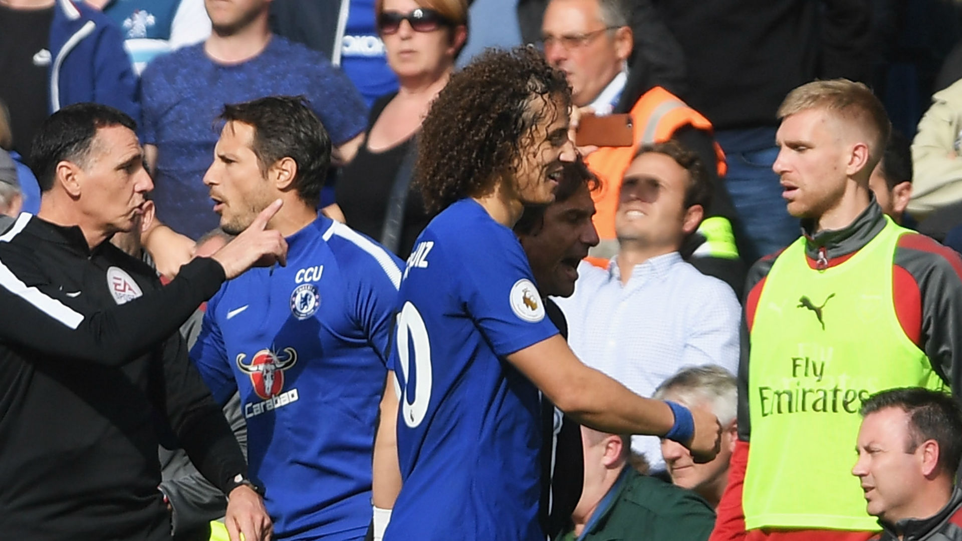 Luiz sees red as Blues held to a point