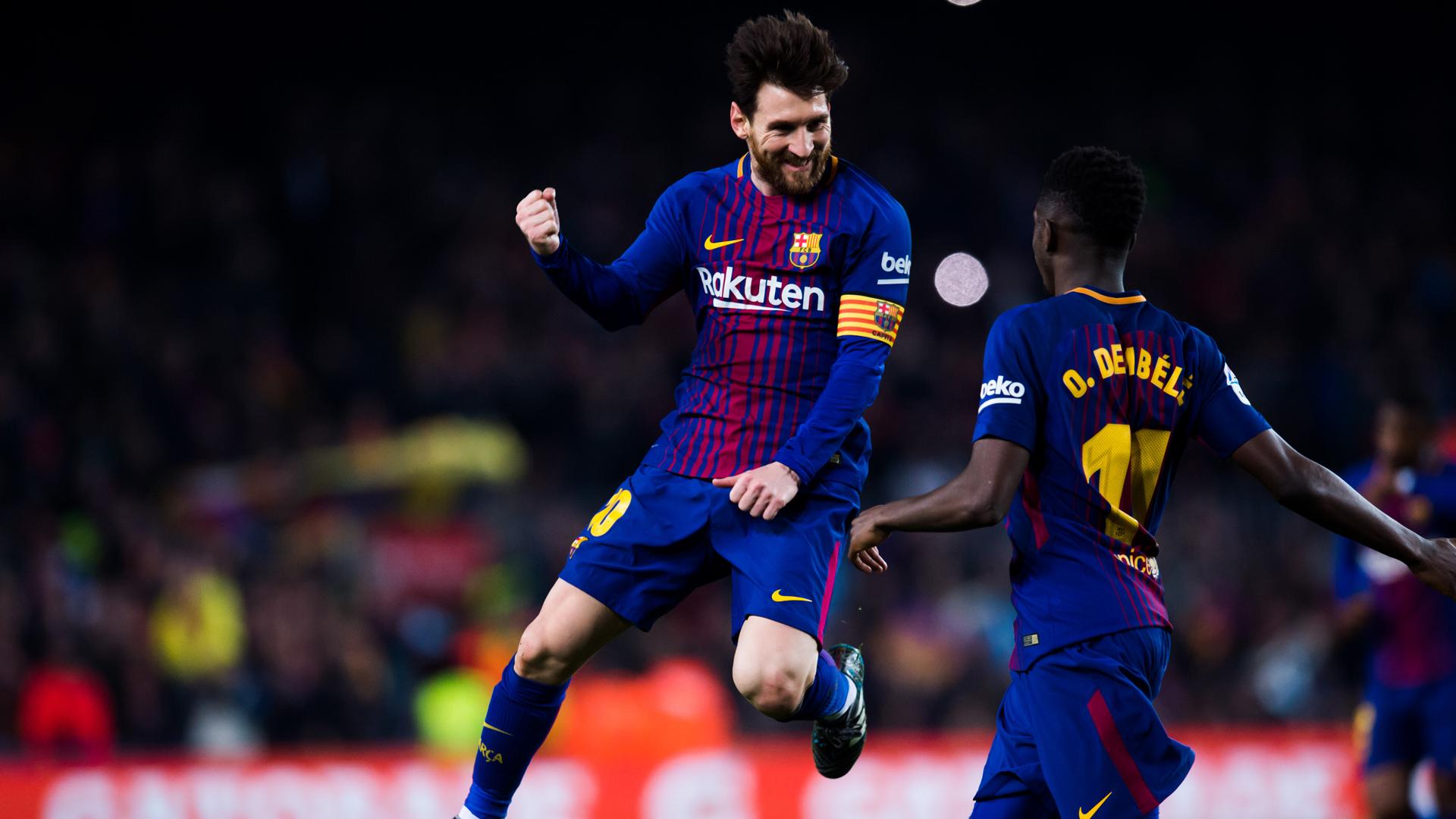 FC Barcelona Lionel Messi Ousmane Dembele 24022018
