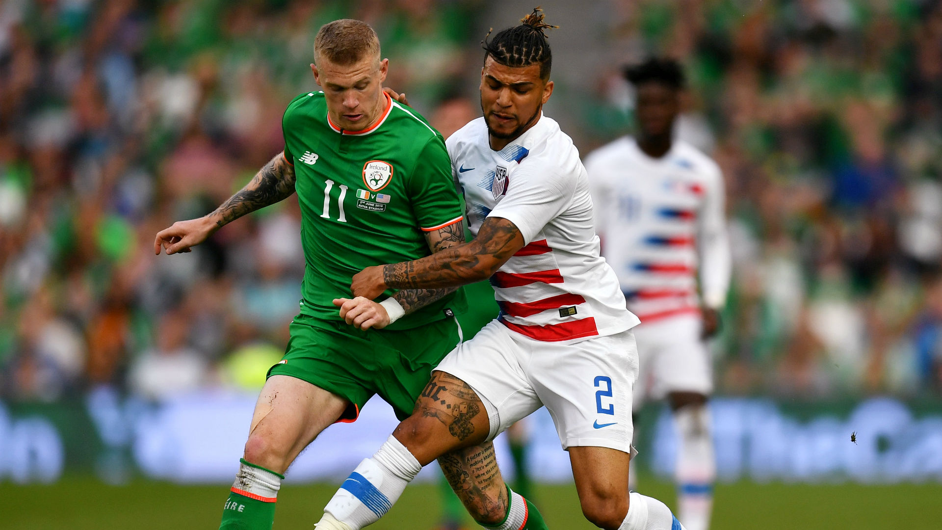James McClean DeAndre Yedlin Ireland USA international friendly 2018