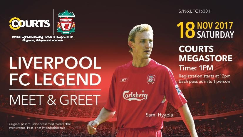 Heres a chance to meet liverpool legend sami hyppia at courts heres a chance to meet liverpool legend sami hyppia at courts megastore goal m4hsunfo