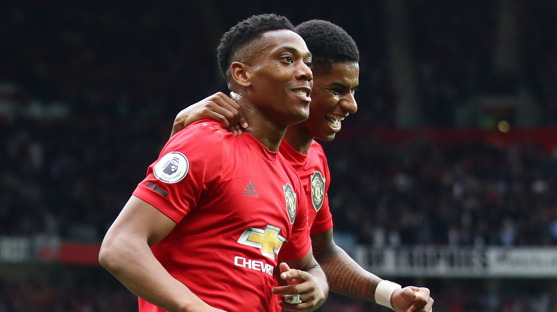 Anthony Martial Marcus Rashford Manchester United vs Chelsea 2019-20