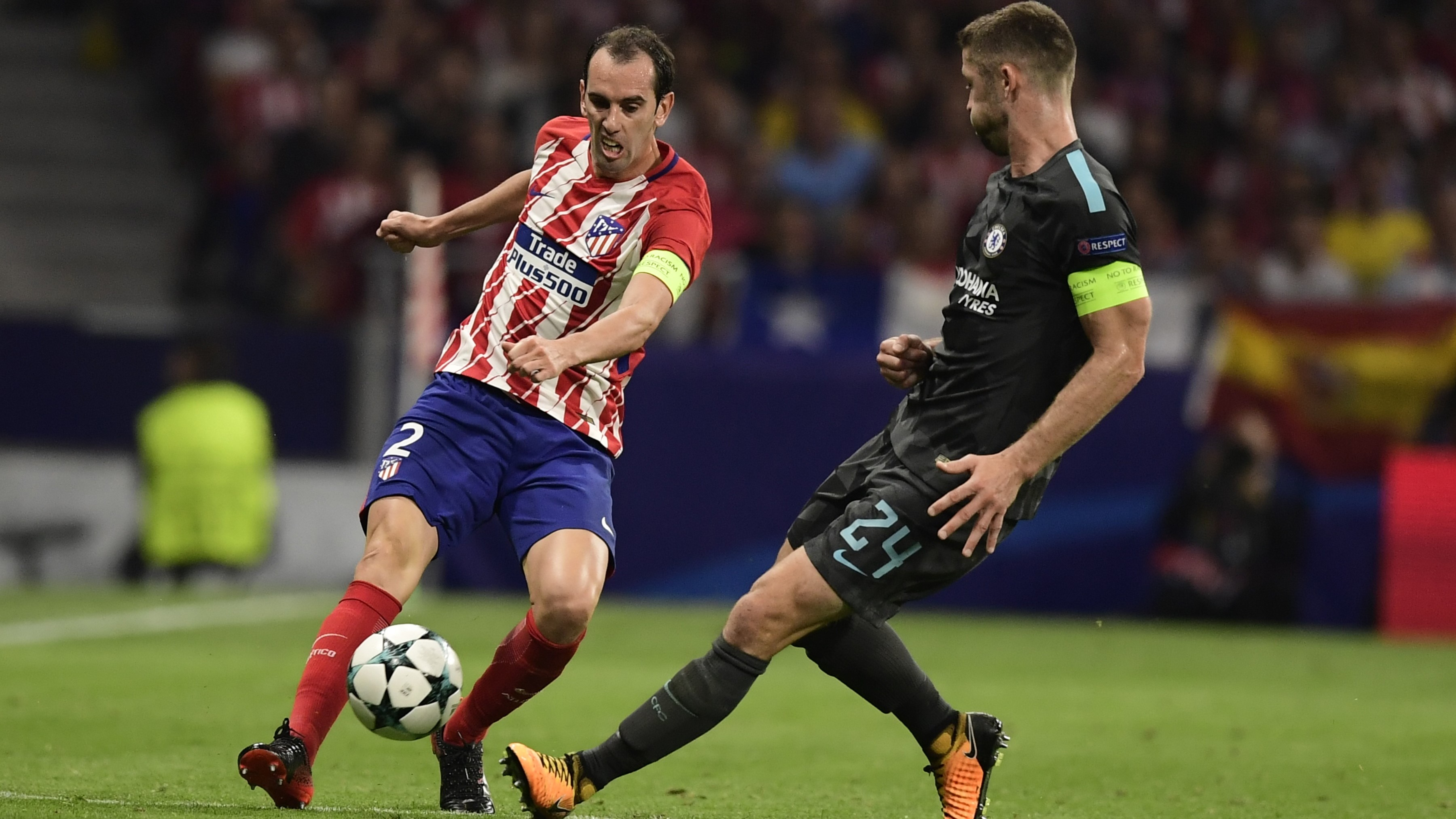 Diego Godin Gary Cahill Atletico de Madrid Chelsea UCL 27092017