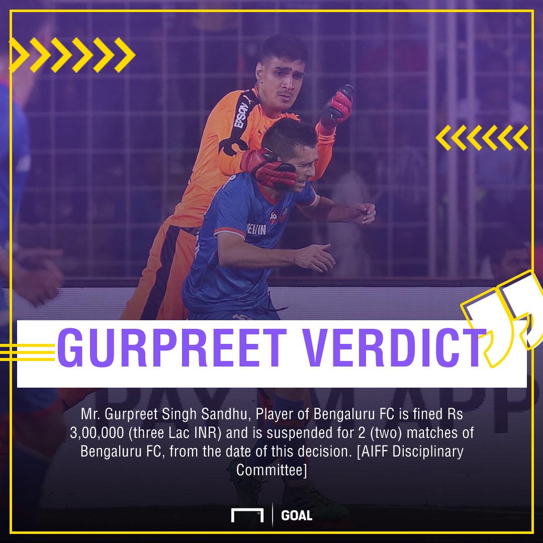 ISL 2017: Bengaluru FC's Gurpreet Singh Sandhu handed 2-match suspension