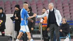 Marek Hamsik Carlo Ancelotti Napoli