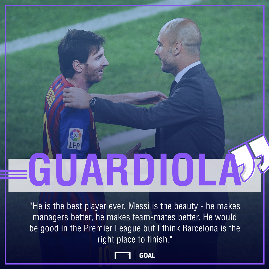 Pep Guardiola Lionel Messi Premier League