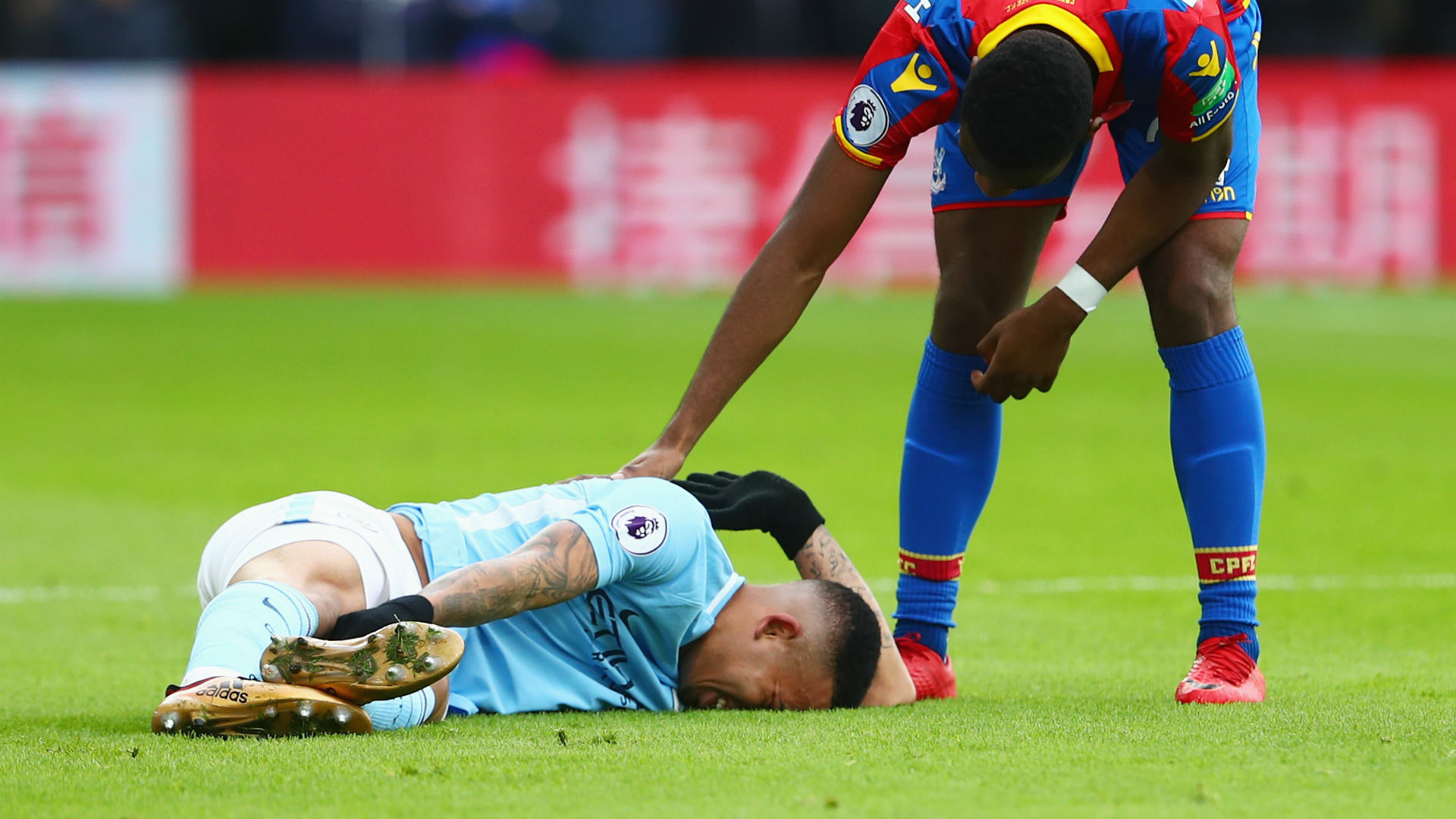 Gabriel Jesus substituted in floods of tears over serious injury