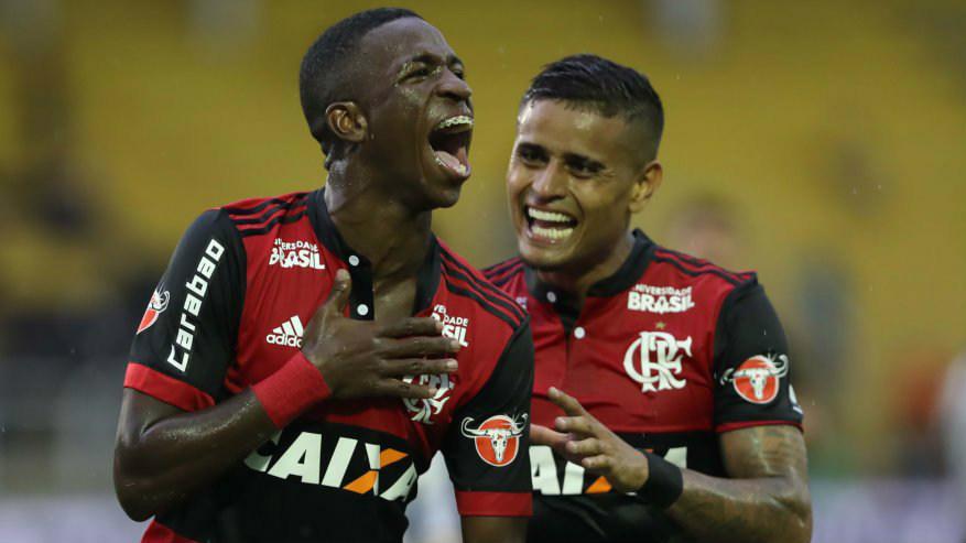Vinicius Junior e Everton - Flamengo - 10/02/2018