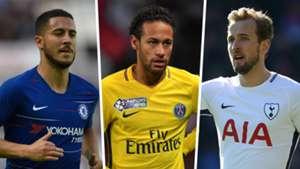 Eden Hazard Neymar Harry Kane Split