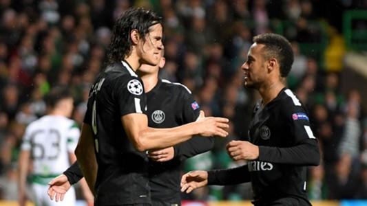 Edinson Cavani Neymar Celtic PSG 12092017