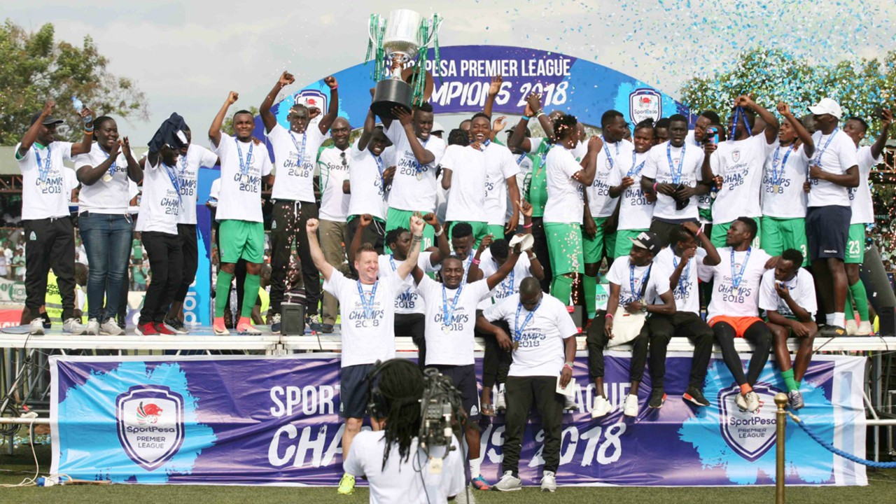 Gor Mahia with KPL trophy for 2018.