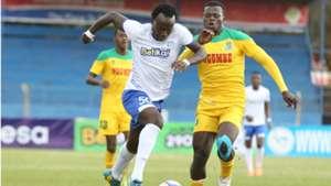 Kepha Aswani of Sofapaka v Mathare United.