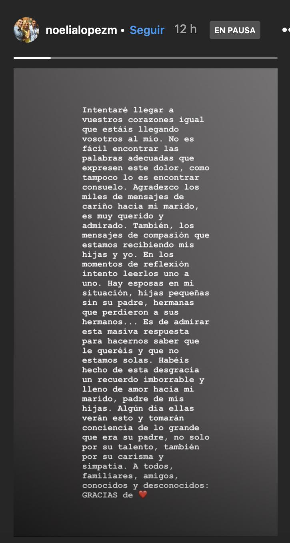 Carta viuda de Reyes