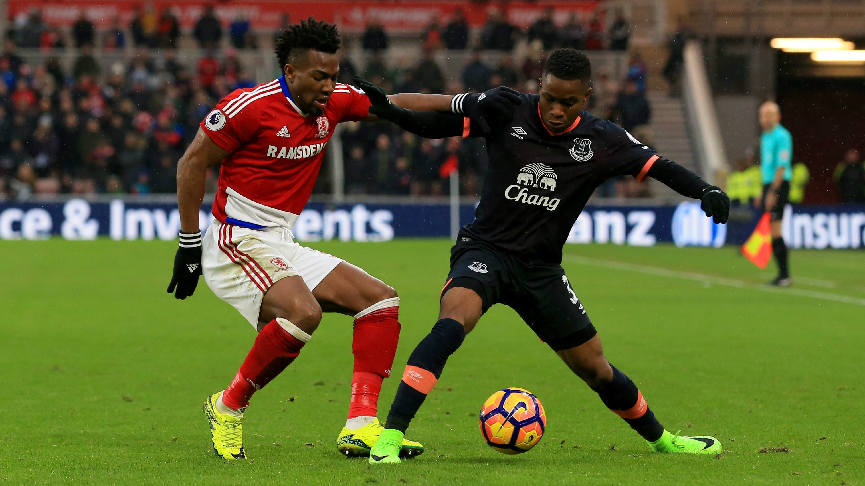 Ademola Lookman Adama Traore Middlesbrough Everton Premier League 11022017