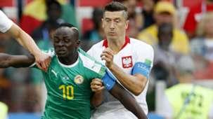 Sadio Mane Senegal Robert Lewandowski Poland World Cup