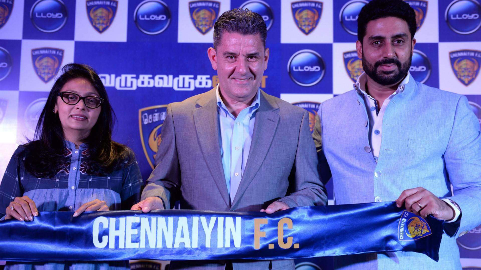 Vinita Dani John Gregory Abhishek Bachchan Chennaiyin FC ISL 4