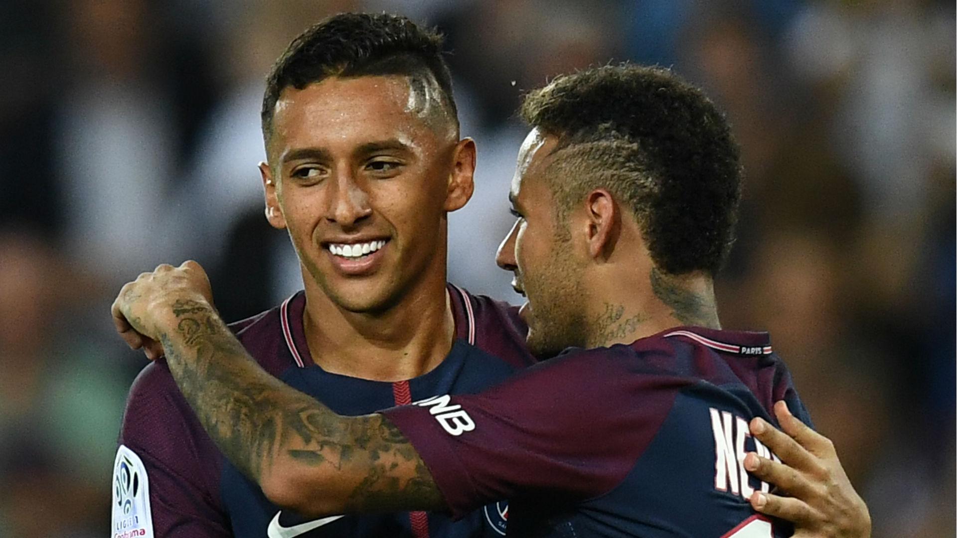 Marquinhos Neymar PSG Saint-Etienne Ligue 1 25 08 2017