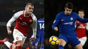 Jack Wilshere Arsenal Alvaro Morata Chelsea