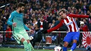 Gerard Pique Antoine Griezmann Barcelona Atletico Madrid